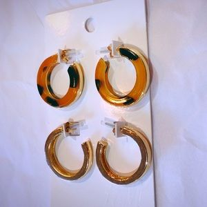 Classy Two pairs of Earrings by H&M